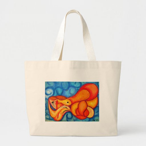 A Seeping ladle in orange & red Bag