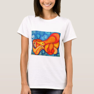 A Seeping ladle in orange & red T-Shirt
