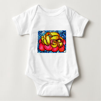 A Seeping ladle in yellow Baby Bodysuit