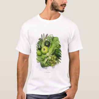 A selection of green fruits & vegetables. T-Shirt