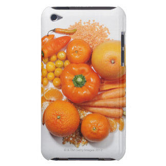 A selection of orange fruits & vegetables. barely there iPod cover