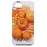 A selection of orange fruits & vegetables. iPhone 5 cover