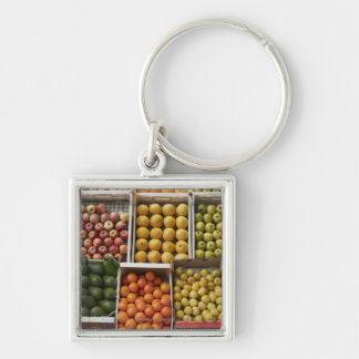 A selection of organic boxed fruit on keychain