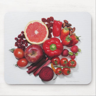 A selection of red fruits & vegetables. mouse pad