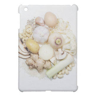 A selection of white fruits & vegetables. case for the iPad mini