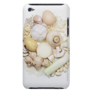 A selection of white fruits & vegetables. iPod touch cases