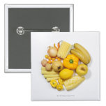 A selection of yellow fruits & vegetables. button