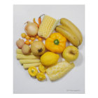A selection of yellow fruits & vegetables. poster