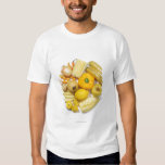 A selection of yellow fruits & vegetables. tee shirt