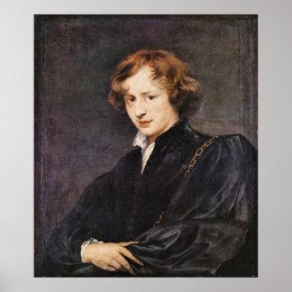 A self portrait by Antoon van Dyck Poster