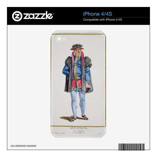 A Senator of Koln from 'Receuil des Estampes, Repr Skin For The iPhone 4S