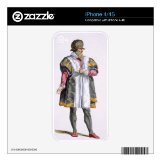 A Senator of Leipzig from 'Receuil des Estampes, R iPhone 4S Decal