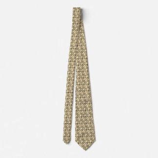 A Sepia Circle on Sepia Rectangle Neck Tie