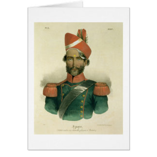 A Sepoy: an Indian Soldier in the French Battalion Greeting Card