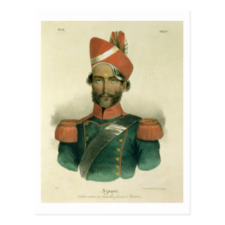 A Sepoy: an Indian Soldier in the French Battalion Postcard