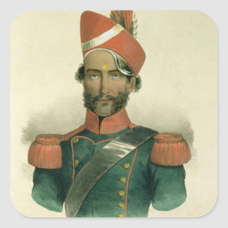 A Sepoy: an Indian Soldier in the French Battalion Square Sticker