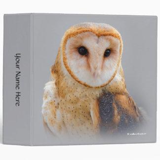 A Serene Barn Owl 3 Ring Binder