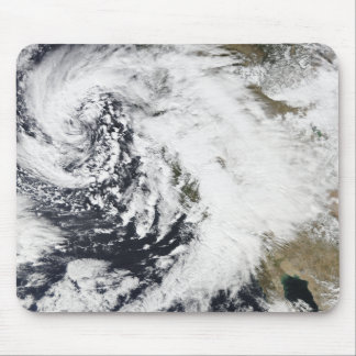 A series of strong storms with fierce winds mouse pad