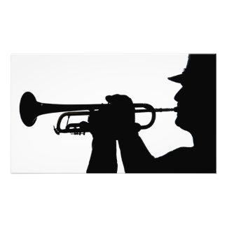 A service member plays a tune photo print