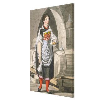 A serving girl at an Inn near Innsbruck, c.1800 (c Canvas Print