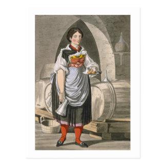 A serving girl at an Inn near Innsbruck, c.1800 (c Postcard