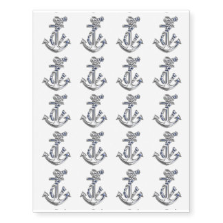 A Set of 20 Nautical Design Anchor Temporary Tattoos