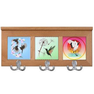 A Set Of Birds Coat Rack