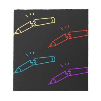 A set of Broken pencils Memo Note Pads