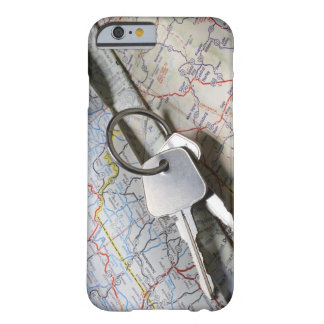 A set of car keys on a pile of road maps. barely there iPhone 6 case
