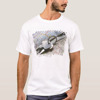 A set of car keys on a pile of road maps. T-Shirt