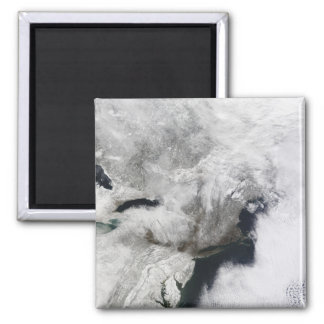 A severe winter storm 2 inch square magnet