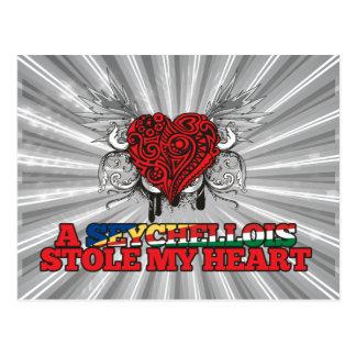 A Seychellois Stole my Heart Postcard