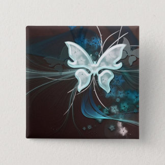 A Shadow Butterfly Pinback Button