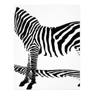 A shadow of a Zebra with stripes Letterhead