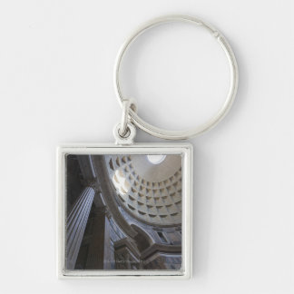 A shaft of light through the oculus in the Silver-Colored square keychain