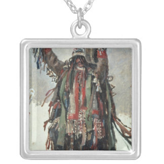 A Shaman sketch for Yermak Square Pendant Necklace