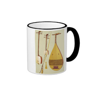 A shamisen, a kokyu and a biwa, Japanese, from 'Mu Ringer Coffee Mug