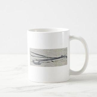 A shamisen Ukiyo-e. Classic White Coffee Mug