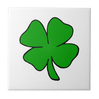 A Shamrock Small Square Tile