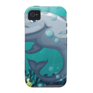A shark under the sea iPhone 4/4S case