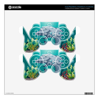A shark under the sea PS3 controller decal