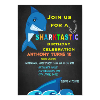 A Sharktastic Birthday Celebration Invitation