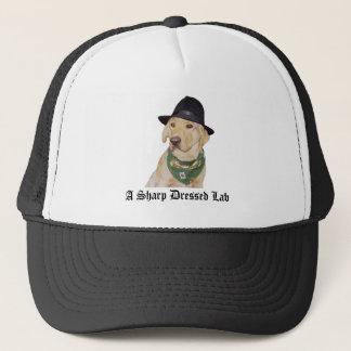 A Sharp Dressed Lab Trucker Hat