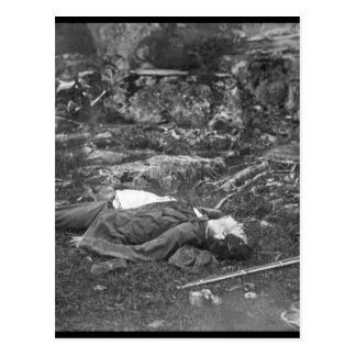 A Sharpshooter's last sleep.  Gettysbury, July 186 Postcard