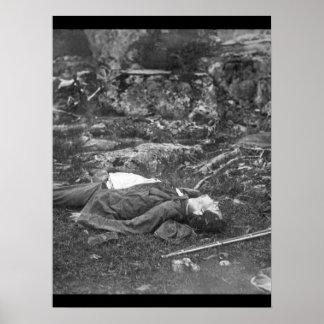 A Sharpshooter's last sleep.  Gettysbury, July 186 Poster