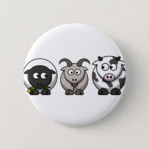 A Sheep, A Goat and a Cow Button