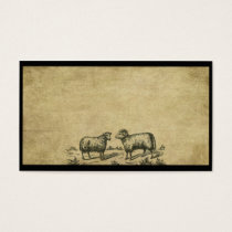 A Sheep & A Ram- Prim Biz Cards