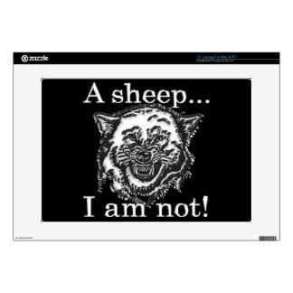 """A sheep, I am not. 15"""" Laptop Decal"""