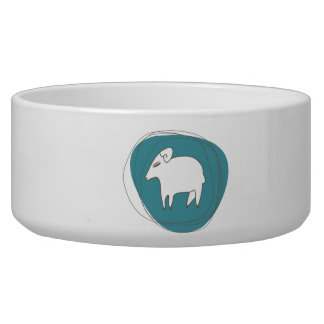 A sheep in ovals bowl