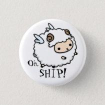 A sheep of the air.... an air sheep? Oh, ship! Pinback Button
